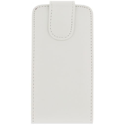 Productafbeelding van de Xccess Leather Flip Case White Samsung Galaxy S5 Mini