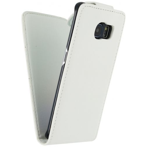 Productafbeelding van de Xccess Leather Flip Case White Samsung Galaxy S6 Edge