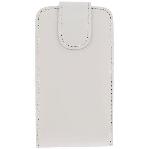 Productafbeelding van de Xccess Leather Flip Case White Samsung Galaxy Trend Lite S7390