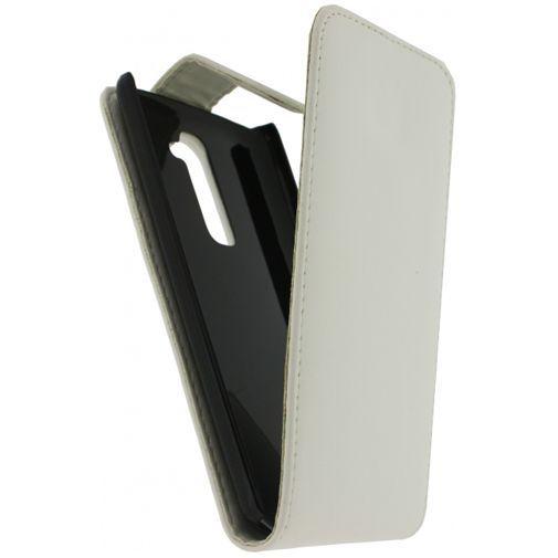 Productafbeelding van de Xccess Leather Flip Case White Samsung Galaxy Trend (Plus)