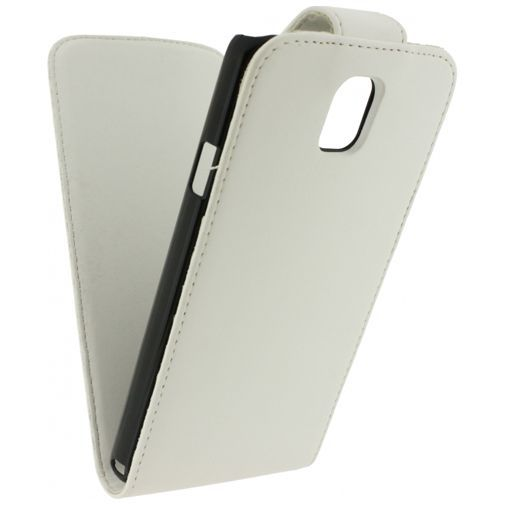 Productafbeelding van de Xccess Leather Flip Case White Samsung Note 3 Neo