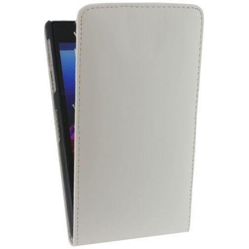 Productafbeelding van de Xccess Leather Flip Case White Sony Xperia Z1