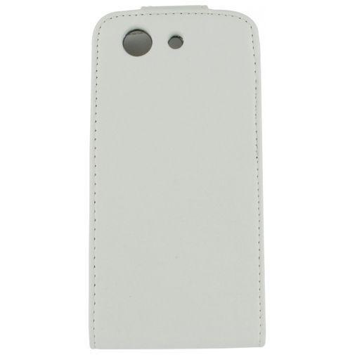 Productafbeelding van de Xccess Leather Flip Case White Sony Xperia Z3 Compact