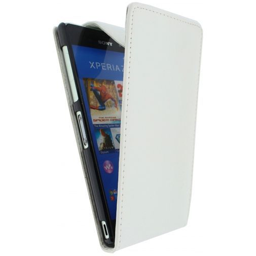 Productafbeelding van de Xccess Leather Flip Case White Sony Xperia Z3