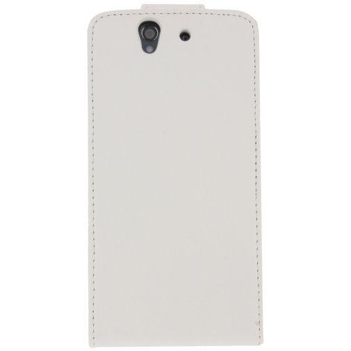 Productafbeelding van de Xccess Leather Flip Case White Sony Xperia Z