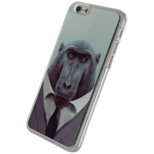Productafbeelding van de Xccess Metal Plate Cover Funny Chimpanzee Apple iPhone 6/6S