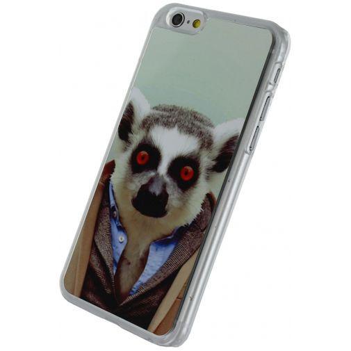Productafbeelding van de Xccess Metal Plate Cover Funny Lemur Apple iPhone 6/6S
