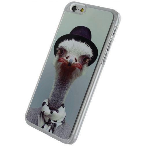 Productafbeelding van de Xccess Metal Plate Cover Funny Ostrich Apple iPhone 6/6S