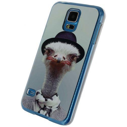 Productafbeelding van de Xccess Metal Plate Cover Funny Ostrich Samsung Galaxy S5/S5 Plus/S5 Neo