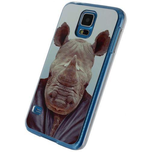 Productafbeelding van de Xccess Metal Plate Cover Funny Rhino Samsung Galaxy S5/S5 Plus/S5 Neo