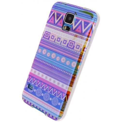 Productafbeelding van de Xccess Oil TPU Case Aztec Samsung Galaxy S5/S5 Plus/S5 Neo