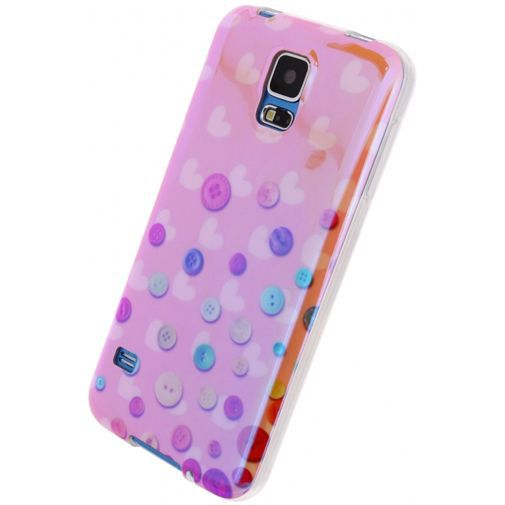 Productafbeelding van de Xccess Oil TPU Case Buttons Samsung Galaxy S5/S5 Plus/S5 Neo