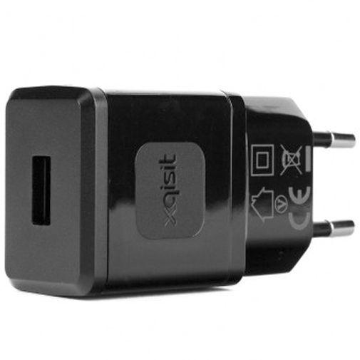 Productafbeelding van de Xqisit Thuislader USB 2.4A Black