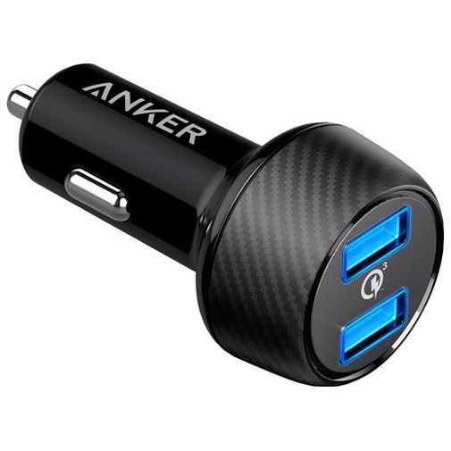 Productafbeelding van de Anker PowerDrive Speed Dual USB Autolader Black