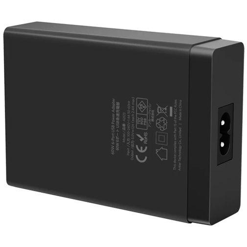 Productafbeelding van de Anker PowerPort 6-USB Snellader 12W Zwart