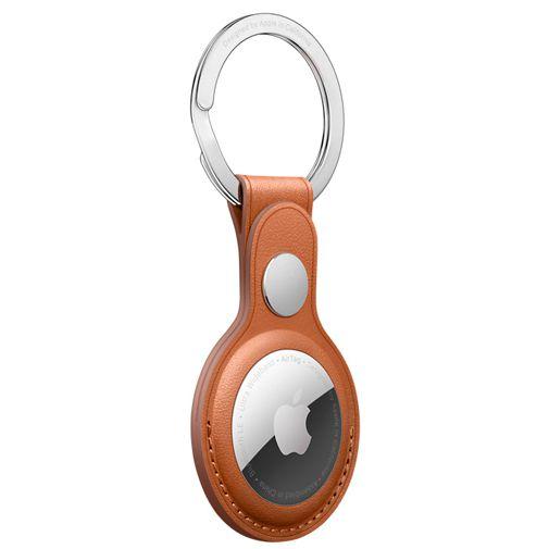 Productafbeelding van de Apple AirTag Sleutelhanger Leer Bruin