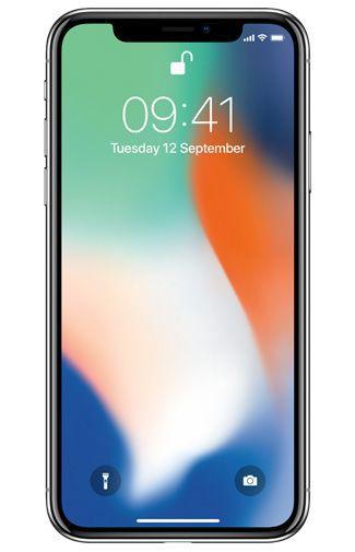 Productafbeelding van de Apple iPhone X 256GB Zilver Refurbished