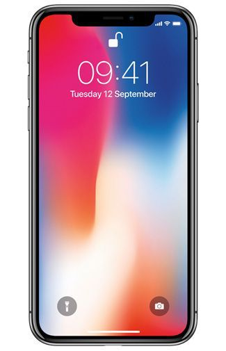 Apple iPhone X 256GB Zwart Refurbished