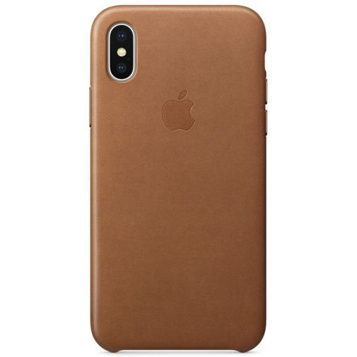 Apple Leather Case Brown iPhone X