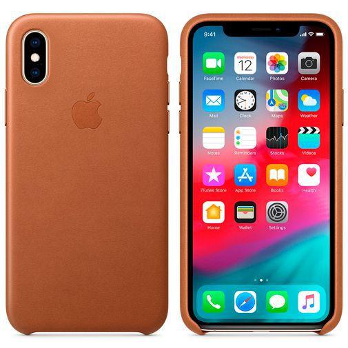 Produktimage des Apple Leder Case Braun iPhone XS