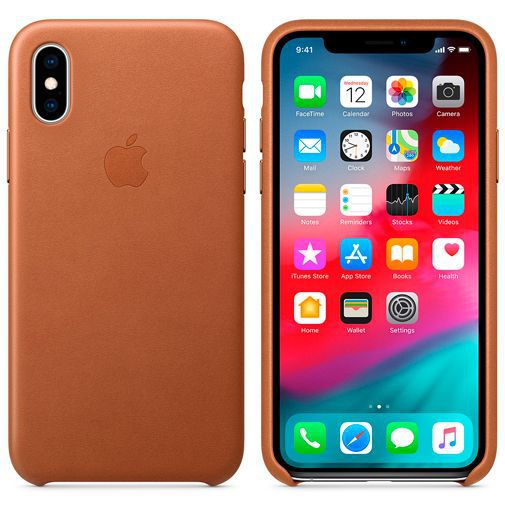Productafbeelding van de Apple Leather Case Brown iPhone XS