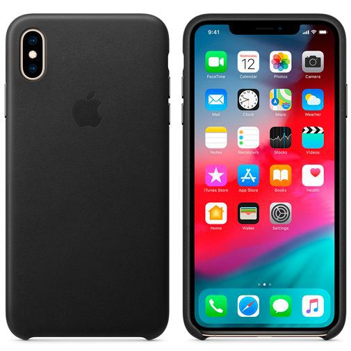 Produktimage des Apple Leder Case Schwarz iPhone XS Max
