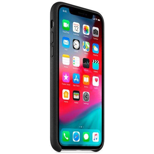 Productafbeelding van de Apple Leather Case Black iPhone XS