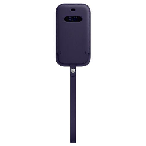 Productafbeelding van de Apple MagSafe Leren Tasje Apple iPhone 12/12 Pro Paars