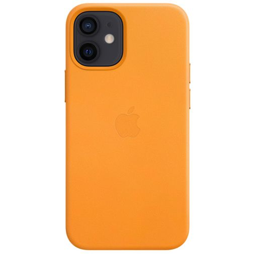Productafbeelding van de Apple MagSafe Leren Back Cover Oranje Apple iPhone 12 Mini