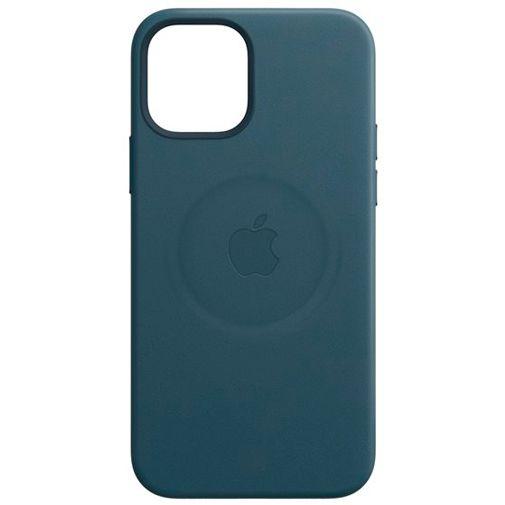 Productafbeelding van de Apple MagSafe Leren Back Cover Blauw Apple iPhone 12 Mini