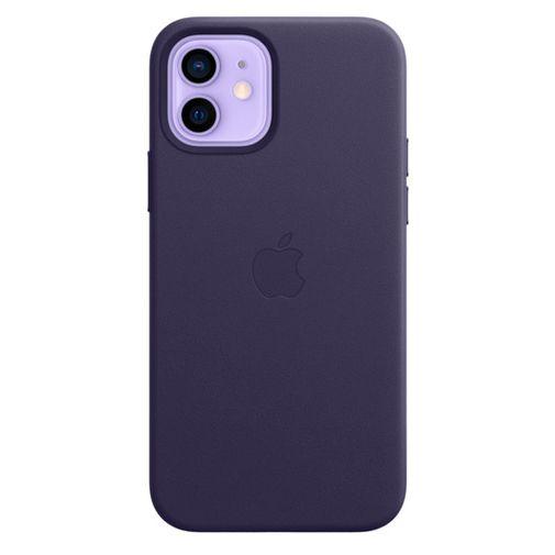 Productafbeelding van de Apple MagSafe Leren Back Cover Paars Apple iPhone 12/12 Pro