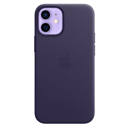 Productafbeelding van de Apple MagSafe Leren Back Cover Paars Apple iPhone 12 Mini