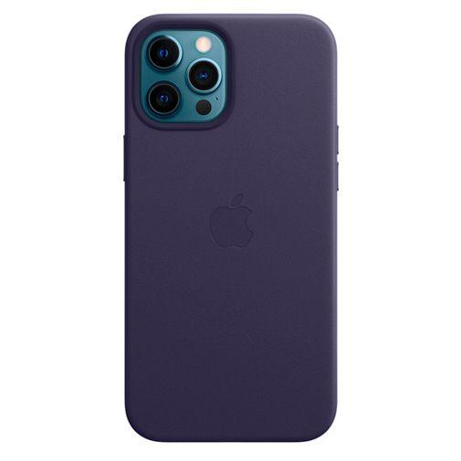 Productafbeelding van de Apple MagSafe Leren Back Cover Paars Apple iPhone 12 Pro Max