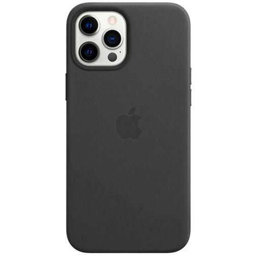 Productafbeelding van de Apple MagSafe Leren Back Cover Zwart Apple iPhone 12 Pro Max