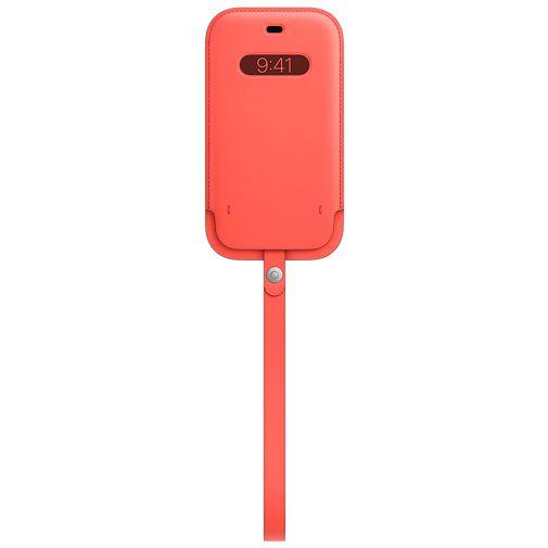 Productafbeelding van de Apple MagSafe Leren Tasje Apple iPhone 12/12 Pro Roze