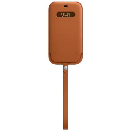 Productafbeelding van de Apple MagSafe Leren Tasje Bruin Apple iPhone 12 Pro Max