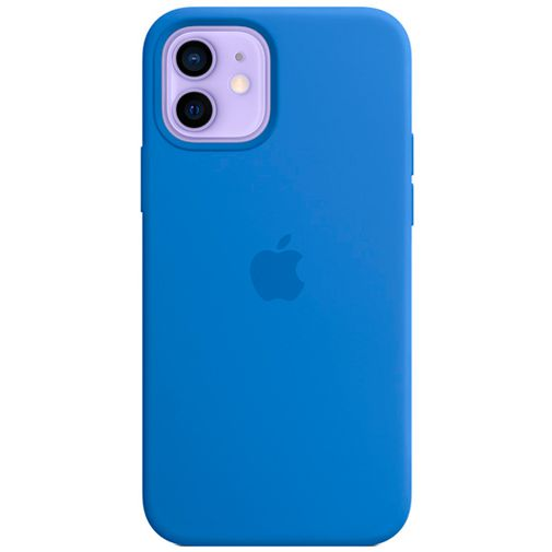 Productafbeelding van de Apple MagSafe Siliconen Back Cover Apple iPhone 12/12 Pro Felblauw