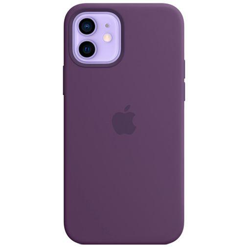 Productafbeelding van de Apple MagSafe Siliconen Back Cover Apple iPhone 12/12 Pro Donkerpaars