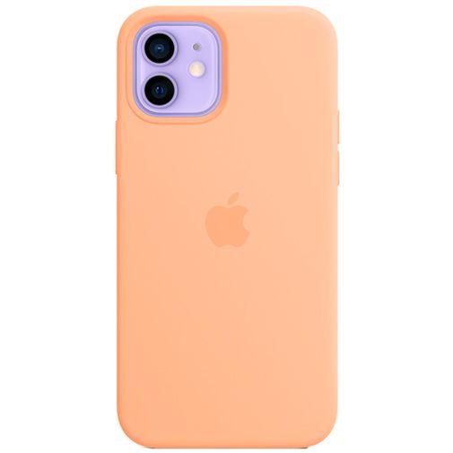 Productafbeelding van de Apple MagSafe Siliconen Back Cover Apple iPhone 12/12 Pro Licht Oranje