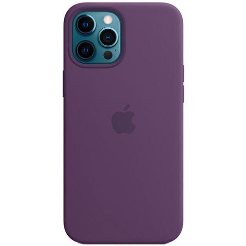 Productafbeelding van de Apple MagSafe Siliconen Back Cover Apple iPhone 12 Pro Max Donkerpaars