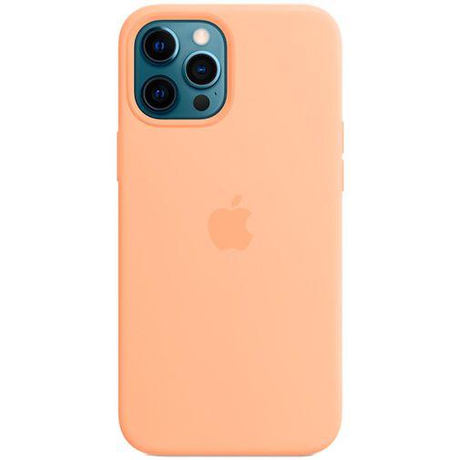 Productafbeelding van de Apple MagSafe Siliconen Back Cover Apple iPhone 12 Pro Max Licht Oranje