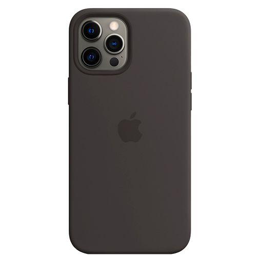 Productafbeelding van de Apple MagSafe Siliconen Back Cover Apple iPhone 12 Pro Max Zwart