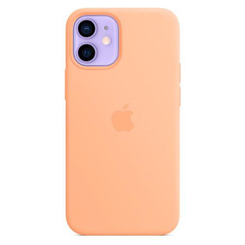 Productafbeelding van de Apple MagSafe Siliconen Back Cover Licht Oranje Apple iPhone 12 Mini