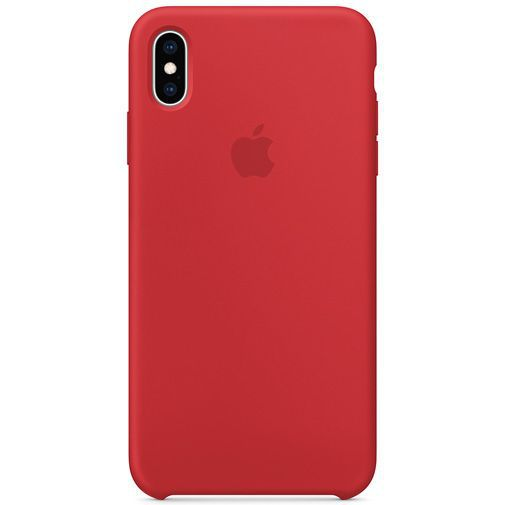 Produktimage des Apple Silikon Case Rot iPhone XS Max