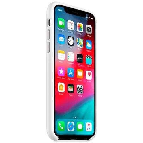 Produktimage des Apple Silikon Case Weiß iPhone XS