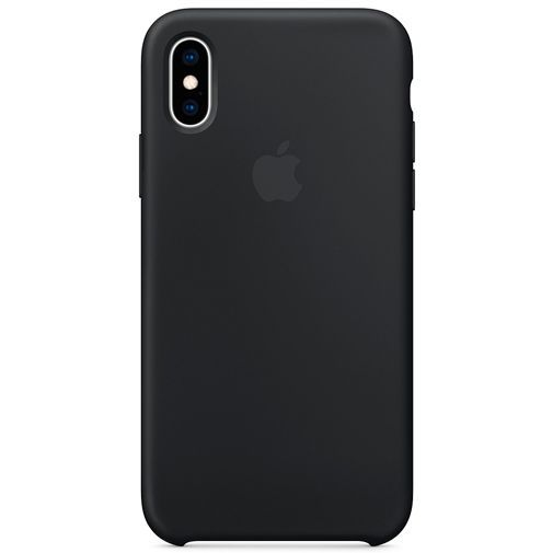 Produktimage des Apple Silikon Case Schwarz iPhone XS