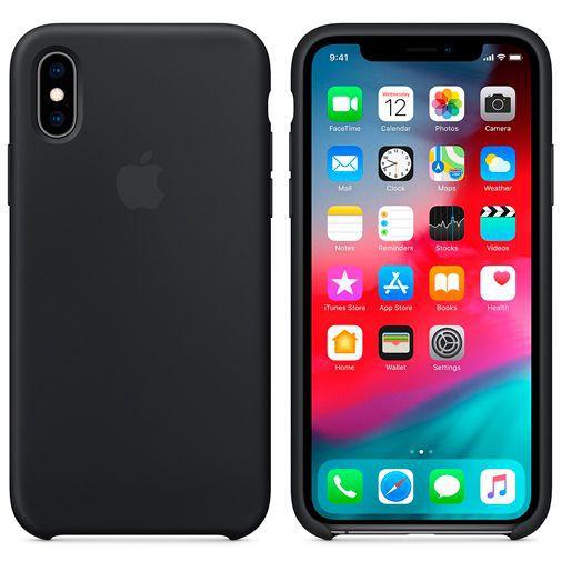 Produktimage des Apple Silikon Case Schwarz iPhone XS