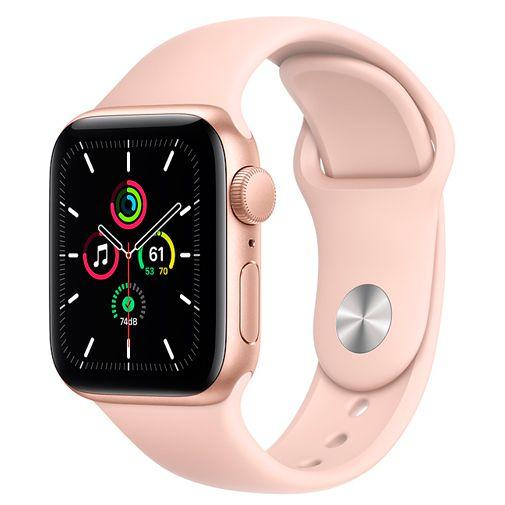 Productafbeelding van de Apple Watch SE 40mm Gold (Pink Silicone Strap)