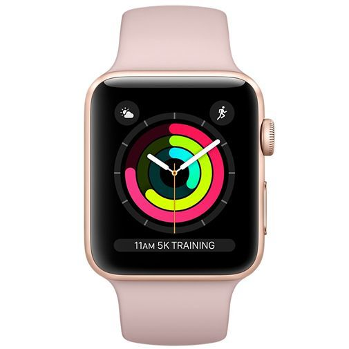 Productafbeelding van de Apple Watch Series 3 Sport 42mm Gold Aluminium (Rose Gold Strap)