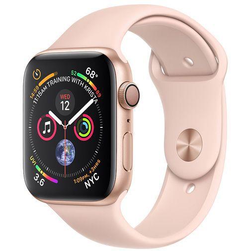 Productafbeelding van de Apple Watch Series 4 Sport 44mm Gold Aluminium (Rose Gold Silicone Strap)
